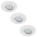 Paulmann 92029 - SET 3x Spot LED encastrable QUALITY LINE 3xGU10-LED/6,5W