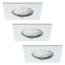 Paulmann 92760 - SET 3x Spot encastrable LED salle de bain COIN LED/6,8W IP44
