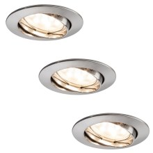 Paulmann 92819 - Set 3x LED/7W Spot encastrable à intensité modulable salle de bain 230V