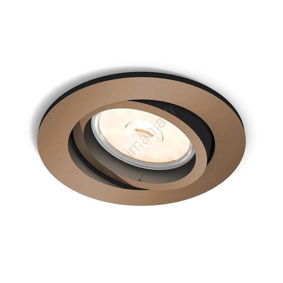 Luminaire 1xgu105 Donegal 5039105pn Philips 5w230v Encastrable Myliving mnN0vw8