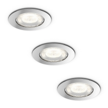 Philips 59008/11/P0 - SET 3x Luminaire LED salle de bain DREAMINESS 3xLED/4,5W IP65