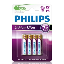 Philips FR03LB4A/10 - 4 pc Pile lithium AAA LITHIUM ULTRA 1,5V