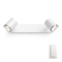 Philips - Spot dimmable LED salle de bain 2xGU10/5,5W IP44