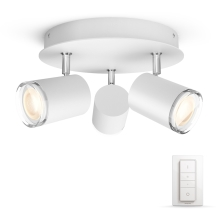 Philips - Spot dimmable LED salle de bain 3xGU10/5,5W IP44