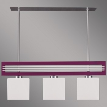 Prezent 51263 - Suspension SANGA 3xE14/60W/230V violet