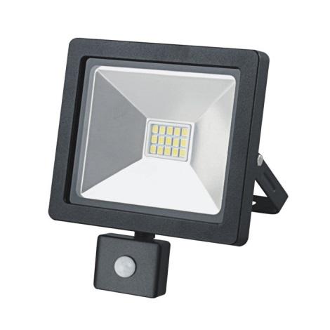 Projecteur LED Extérieur Avec Détecteur SLIM LED/10W/230V Noir IP44