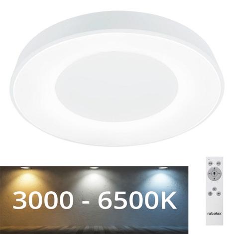 Rabalux - Plafonnier LED à intensité variable LED/38W/230V blanc + télécommande 3000-6500K