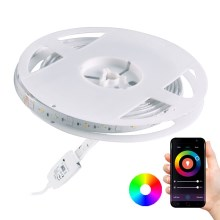 Ruban dimmable LED RGB d'extérieur Wi-fi LED/8W IP65 2 m Tuya