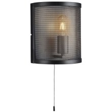 Searchlight - Applique murale FISHNET E27/60W/230V noir