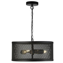 Searchlight - Suspension avec chaîne FISHNET 3xE27/60W/230V noir