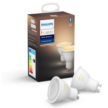 SET 2x Ampoule LED à intensité modulable Philips HUE WHITE AMBIANCE GU10/5,5W/230V 2200-6500K