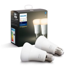 SET 2x Ampoule LED à intensité modulable Philips HUE WHITE E27/9W/230V 2700K