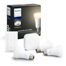 Set de base Philips HUE STARTER KIT 3xE27/9W + dispositif de connexion 2700K