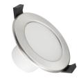 Spot encastrable LED salle de bain LED/7W/230V 3000K argent IP44