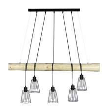 Suspension avec fil TRABO 5xE27/60W/230V