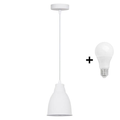 Suspension LED 1xE27/10W/230V blanc 13,5cm