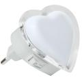 Veilleuse LED à brancher LED/0,4W/230V coeur blanc