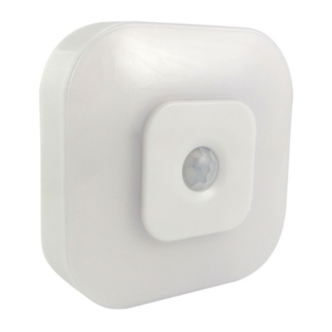 Veilleuse LED avec détecteur LED/0,5W/3xAAA blanc